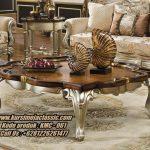 Meja Coffee Classic Terbaru Model Coffee Table Rectangle