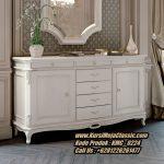 Meja Bufet Klasik Minimalis Lemari Bufet Warna Putih