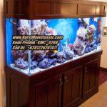 Meja Aquarium Minimalis Jati Model Aquarium Air Laut