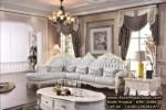 Kursi Sudut Klasik Antik Sofa Ruang Tamu Mewah Leter L