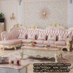 Set Kursi Sudut Classic Sofa Tamu Leter L Mewah