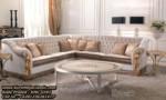 Set Kursi Sudut Klasik Sofa Ruang Tamu Leter L