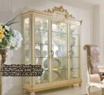 Desain Lemari Hias Klasik Living Room Display Cabinet
