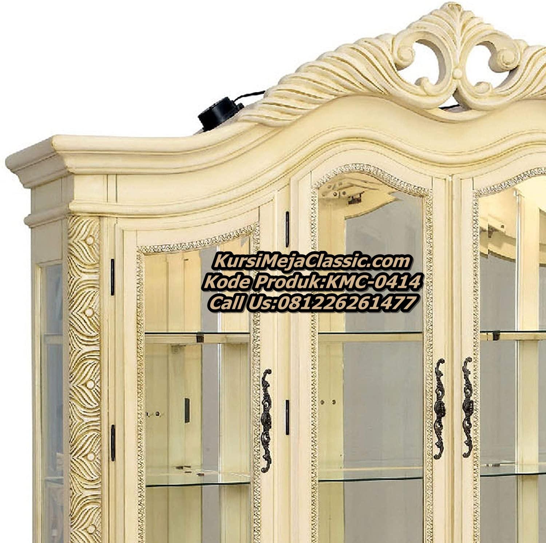 Jual Lemari Hias Klasik, Lemari Hias Mewah Klasik, Harga Lemari Display Cabinet Klasik Modern, Gambar Lemari Hias 4 Pintu Mewah Terbaru