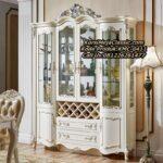 New Lemari Hias Klasik Display Cabinet Mewah
