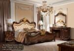 Set Tempat Tidur Mewah Kayu Jati New Design Classic Bedroom