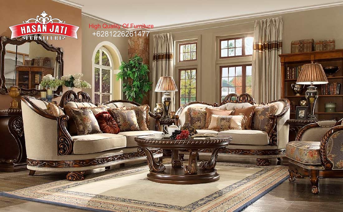 Kursi Sofa Klasik Ruang Tamu, Jual Set Sofa Ruang Keluarga Mewah Klasik, Harga Set Sofa Tamu Klasik Modern, Model Terbaru Kursi Tamu Mewah Antik, Living Room Set Sofa Antik Terbaru