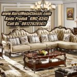 Kursi Sudut Klasik Ukiran Model Sofa Leter L Jati